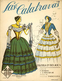 Las Calatravas - vocal score cover (courtesy CEDOA, Madrid)