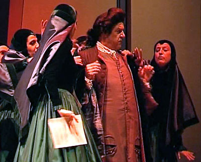 """Music Master"" Don Diego (Luis Alvarez) tangles with the Convent Girls (Act 3)"