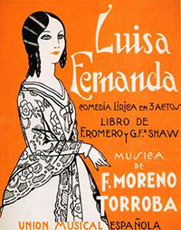 Luisa Fernanda (vocal score cover)