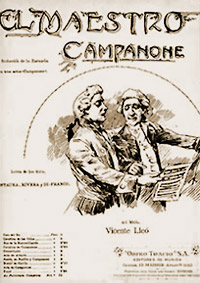 El Maestro Campanone: vocal score cover, 1905