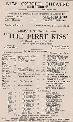The First Kiss - London cast