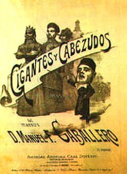 Gigantes y Cabezudos - original Vocal Score cover
