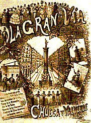 La Gran Via - vocal score cover