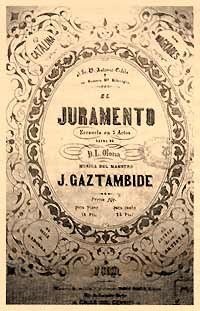 El juramento - vocal score cover