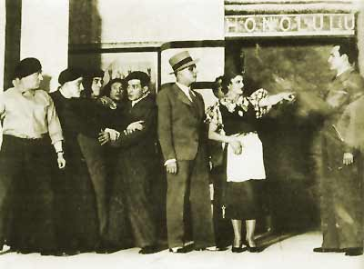 The climax of Act 1 - original 1934 cast