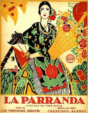 Vocal Score of La Parranda (courtesy Rafael Sanchez Alonso)