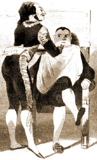 Agostino Rovere (as Bartolo, with Giorgio Ronconi as Figaro in Rossini's opera, Covent Garden 1847)